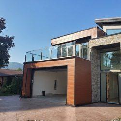 modern glass railings for house