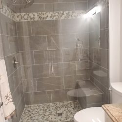 Shower Glass Door in Kelowna Residence